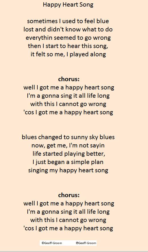 Happy Heart Song - Geoffrey Groom